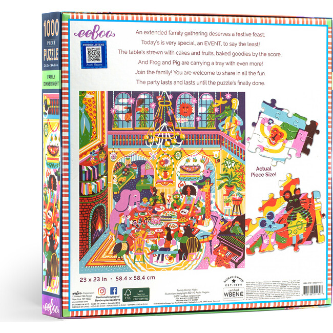 Family Dinner Night 1000 Piece Square Puzzle