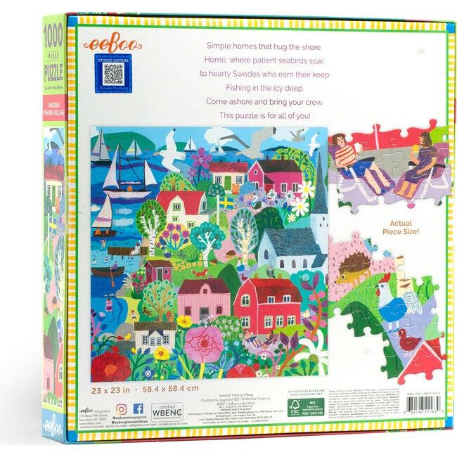 Swedish Fishing Village 1000 Piece Square Puzzle