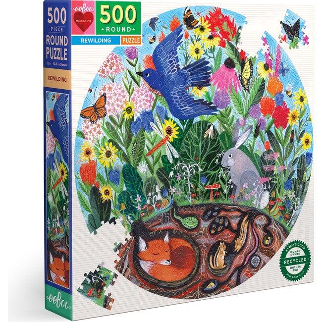 Rewilding 500 Piece Round Puzzle