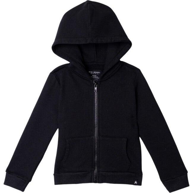 Zip-Up Hooded Jacket, Black