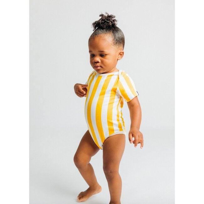 Onesie, Marigold Candy Stripes