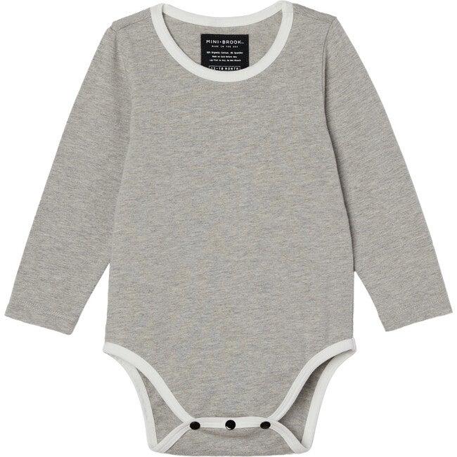 Long Sleeve Onesie, Grey