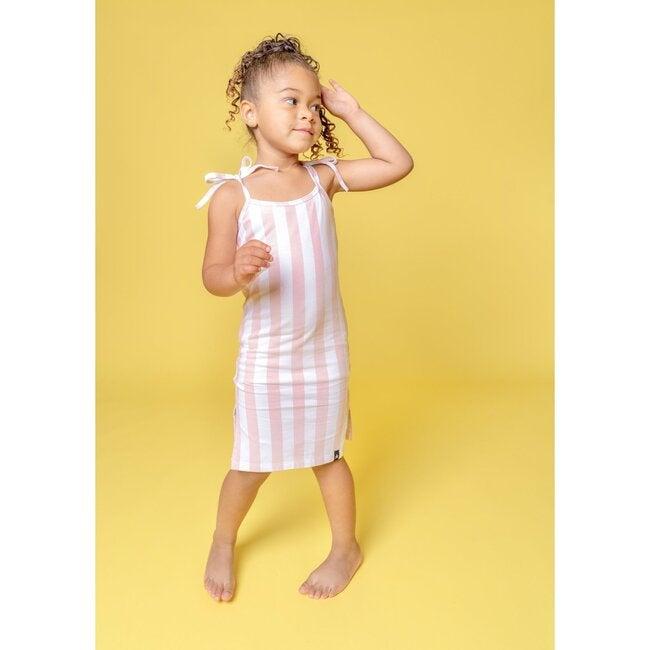 Skye Midi Dress, Just Pink Candy Stripe