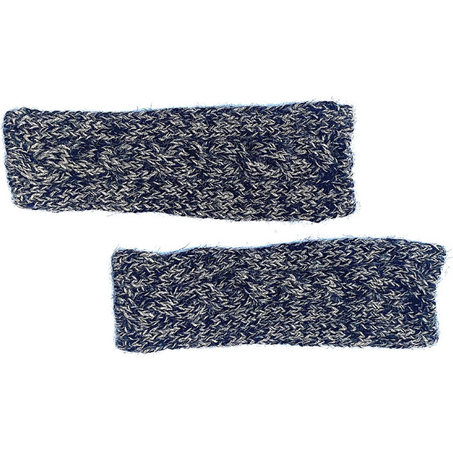 Fingerless Cable Glove, Speckled Black