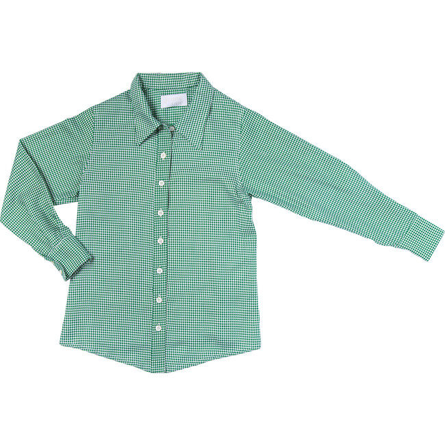 Mick Button Up, Green Gingham