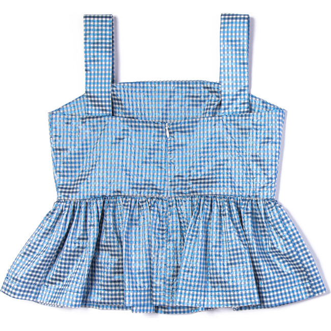 Carly Top, Iridescent Gingham