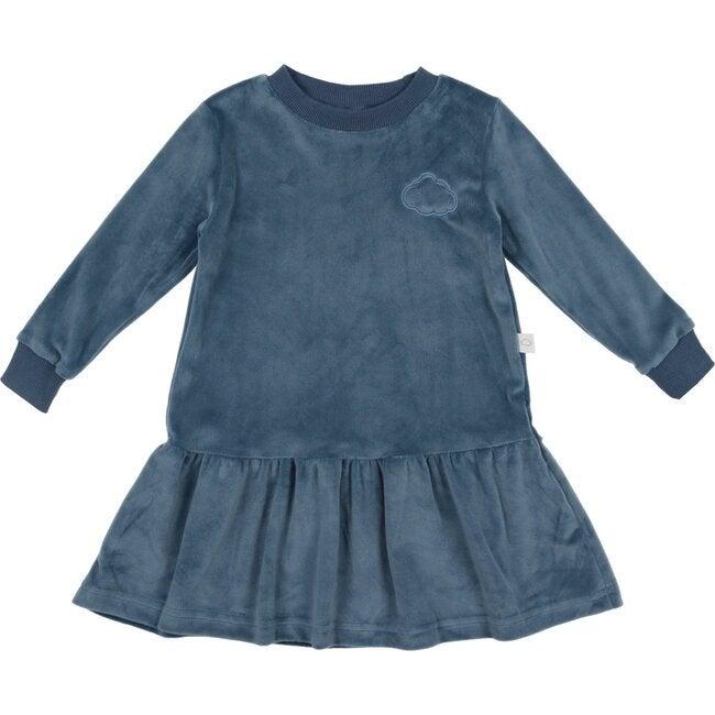 Velour Dress, Blue