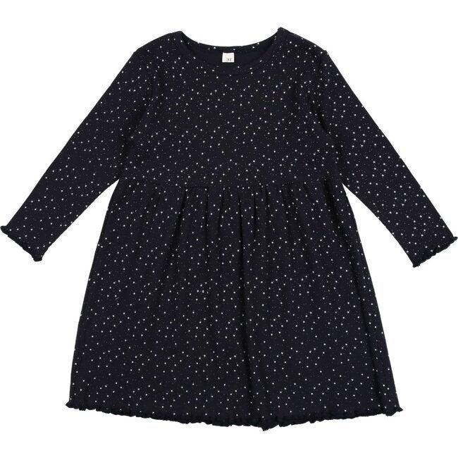 Star Print Dress, Dark Navy