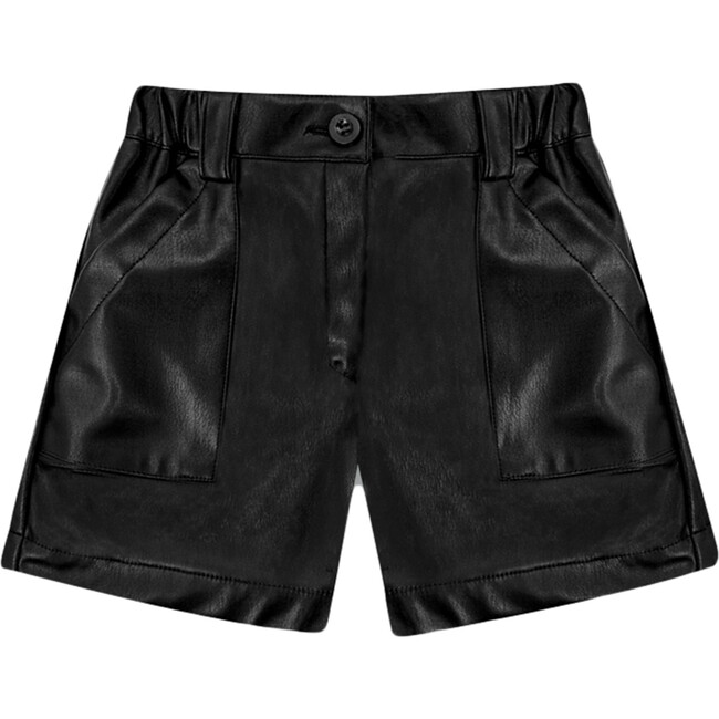 Recycled Leather Short Pant, Black