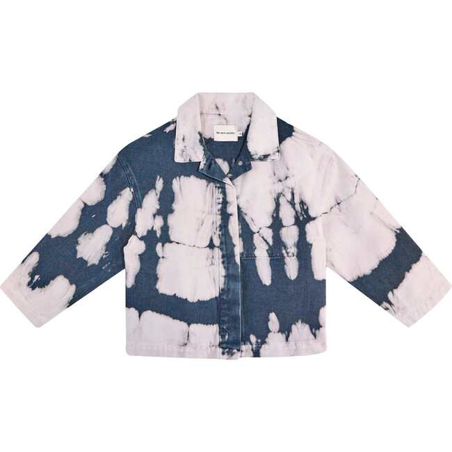Vincent Shirt Jacket, Tie Dye Navy