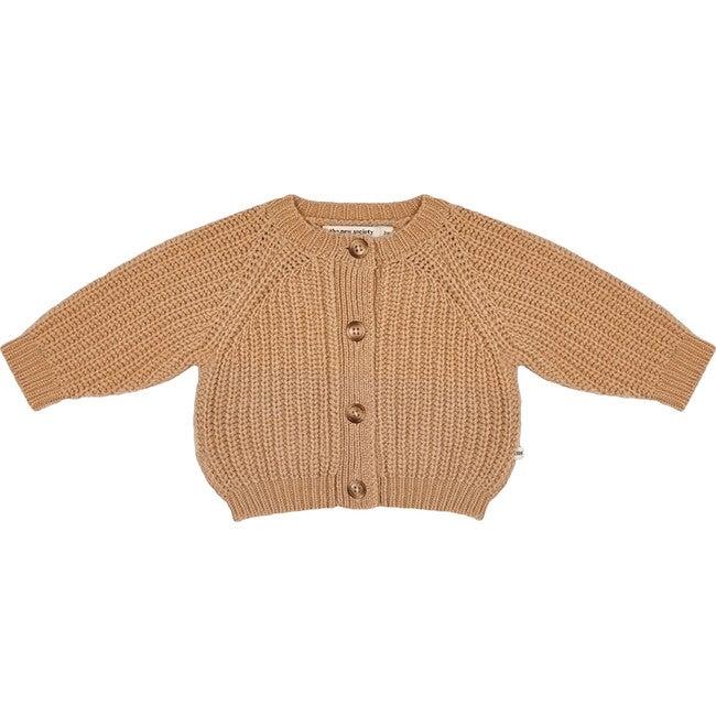 Easy Rib Baby Jacket, Toffe - Jackets - 1