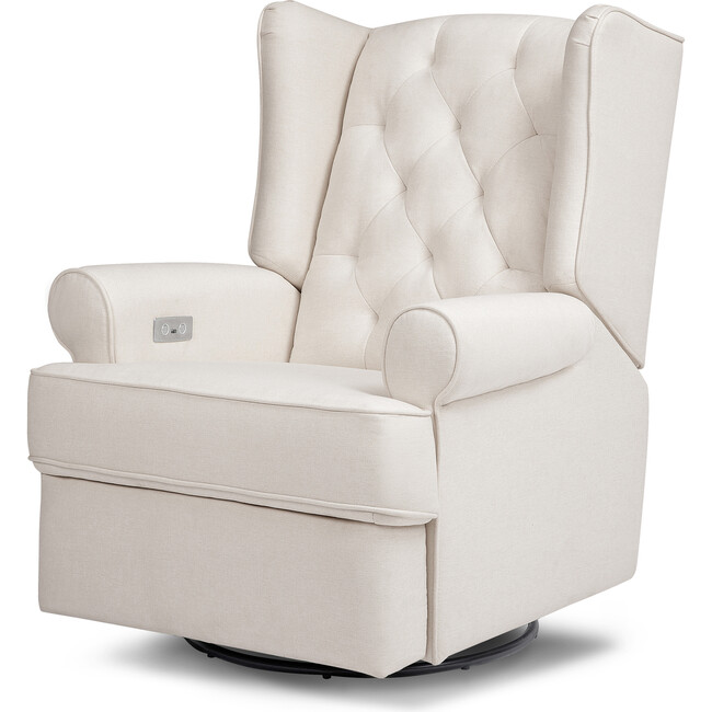 Harbour Electronic Recliner and Swivel Glider, Performance Cream Eco-Weave