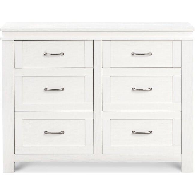 Wesley Farmhouse 6-Drawer Assembled Double Dresser, Heirloom White