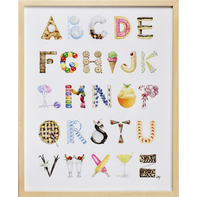 "Dessert Alphabet, 16"" x 20"""