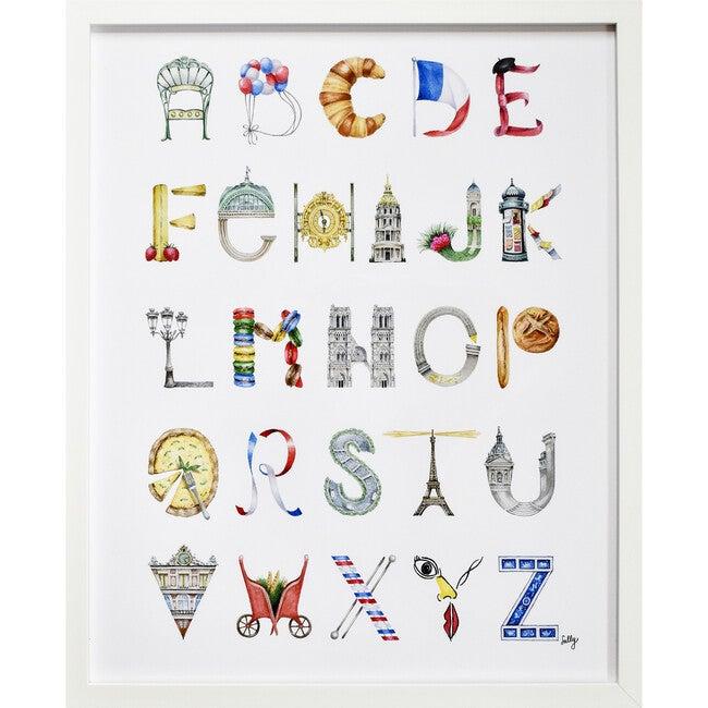 """Paris Alphabet, 16"""" x 20"""""""