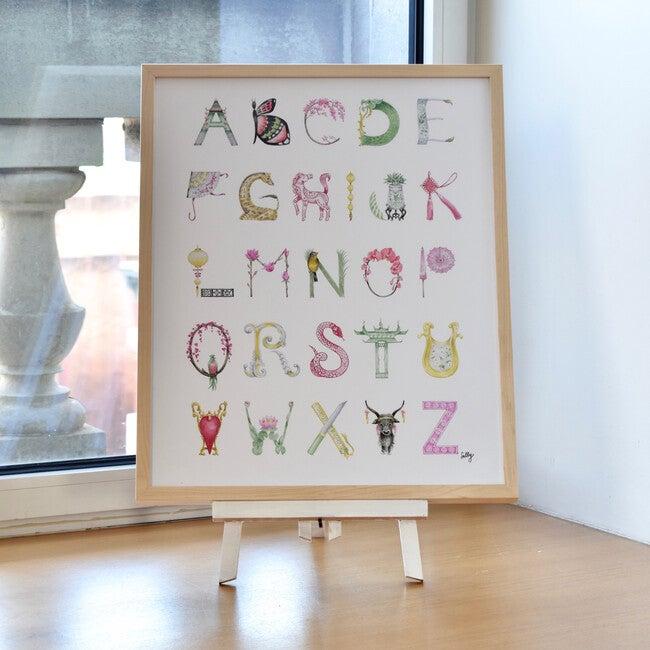 "Chinoiserie Alphabet, 16"" x 20"""
