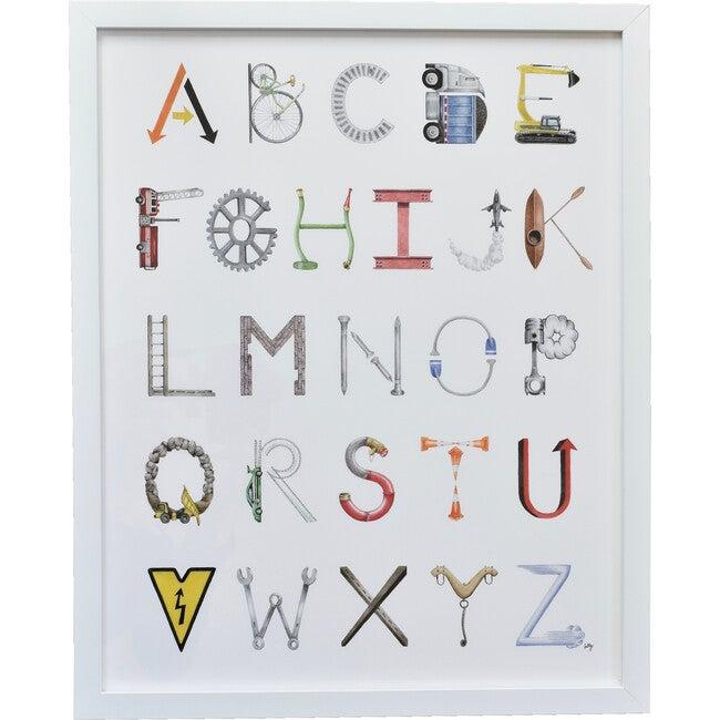 "Construction Alphabet, 16"" x 20"""