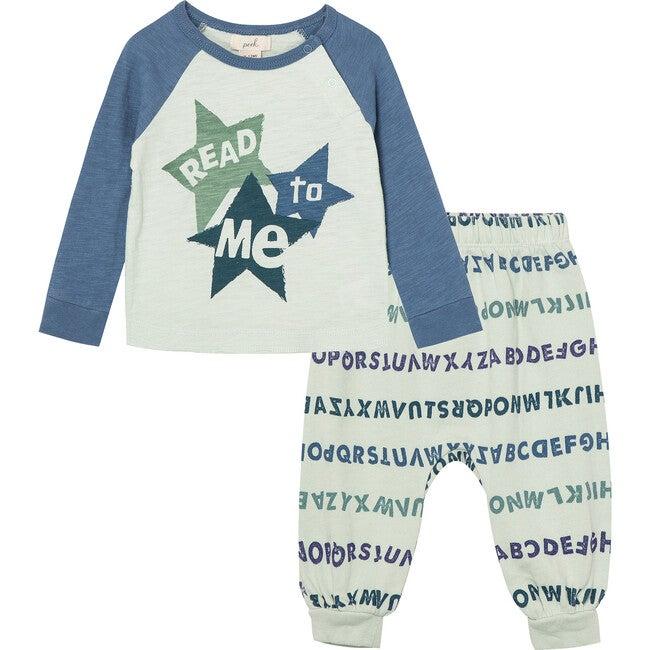 Future Reader Pant Set, Light Blue