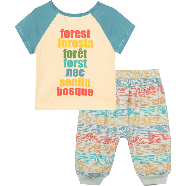 The Nature Conservancy X Peek Save Our Forest Pant Set, Off-White