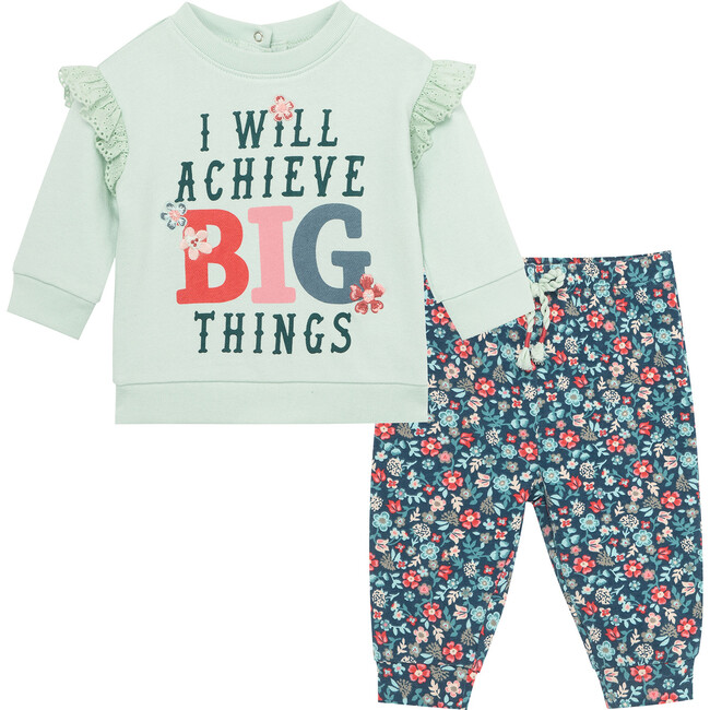 Achieve Big Things Pant Set, Blue