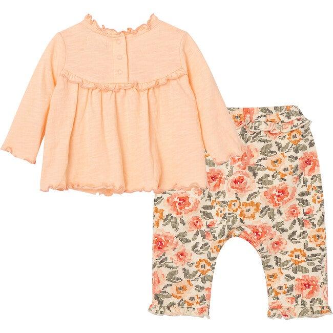 Babydoll Pant Set, Peach