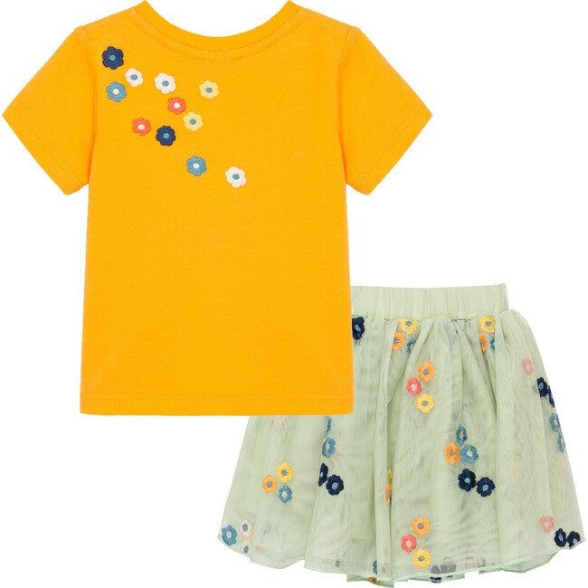 Petite Noix Skirt Set, Orange