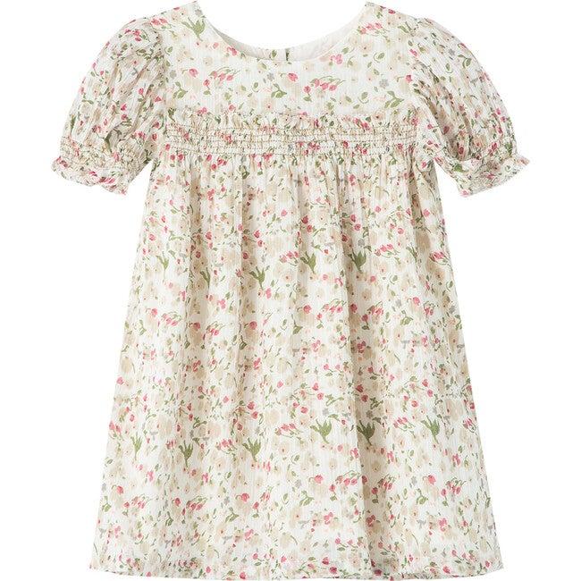 Floral Smocked Dress, Print