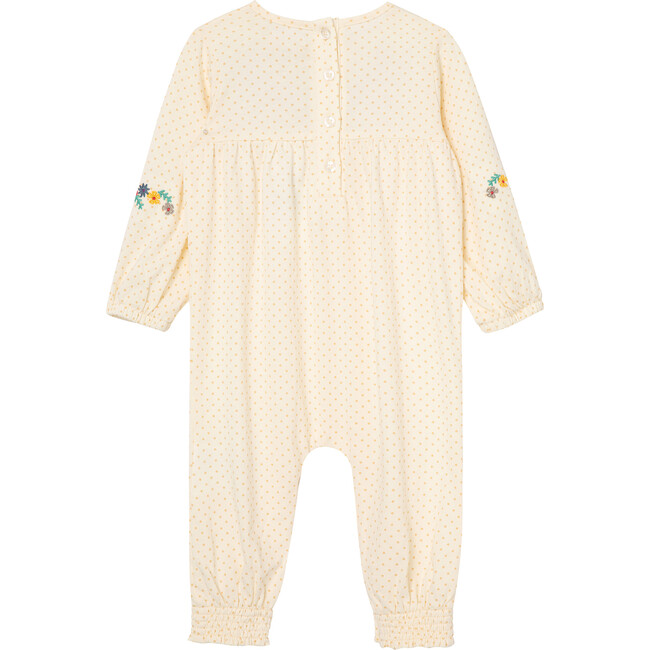 Dots & Flowers Coverall, Off-White