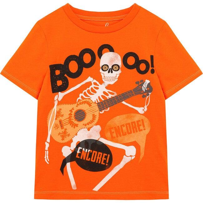 Boo! Skeleton Tee, Orange