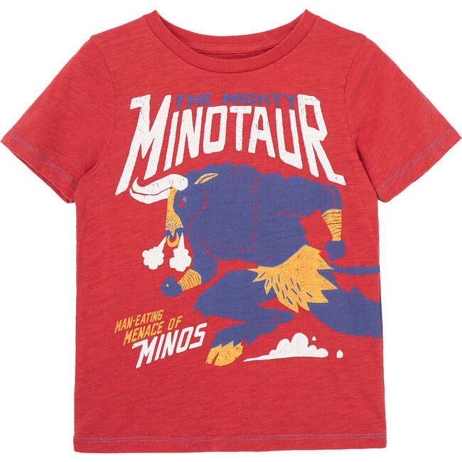 The Mighty Minotaur Tee, Red