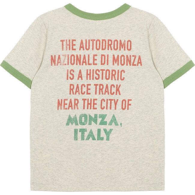 Monza Race Tee, Grey Heather