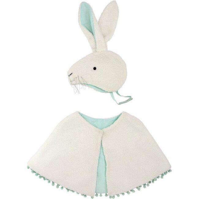 Sherpa Fleece Bunny Costume, White