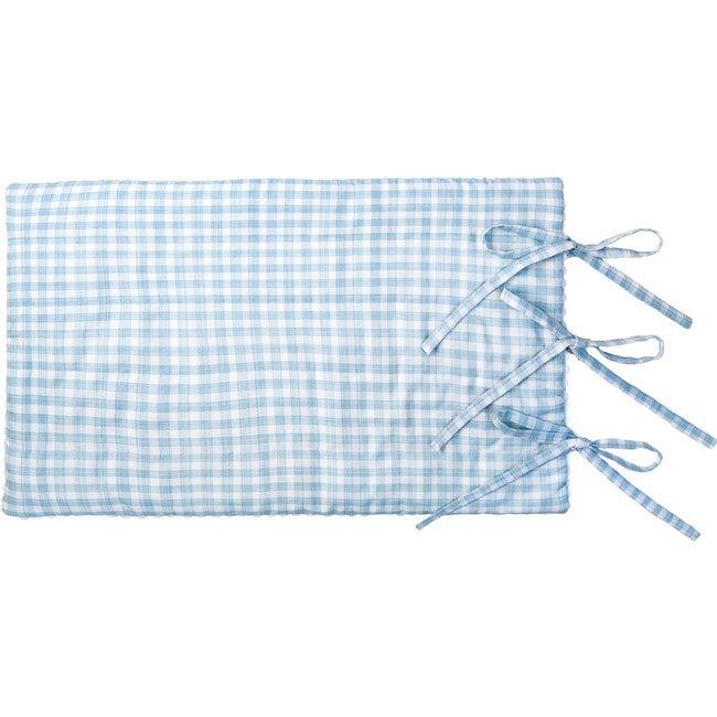 Corin Pillow Sham, Blue & White Gingham
