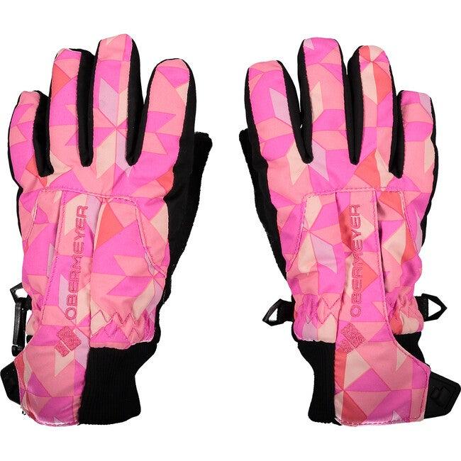 Thumbs Up Glove Print, Pink-A-Lot