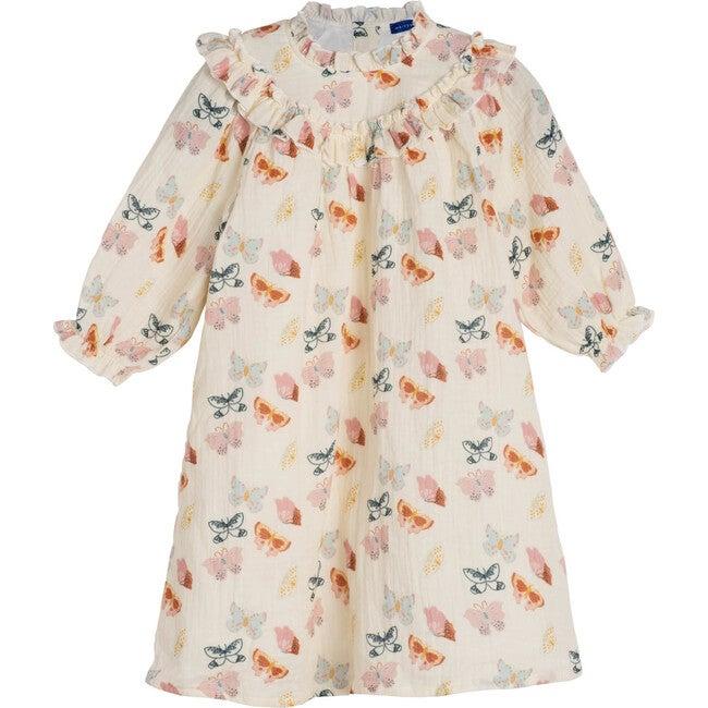 Cleo Dress, Clream Butterflies