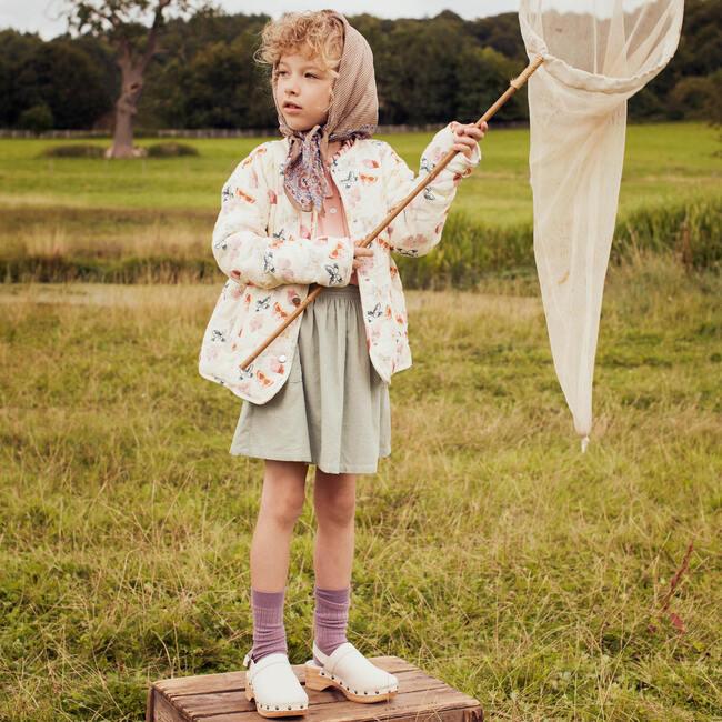 Esme Quilted Jacket, Cream Butterflies