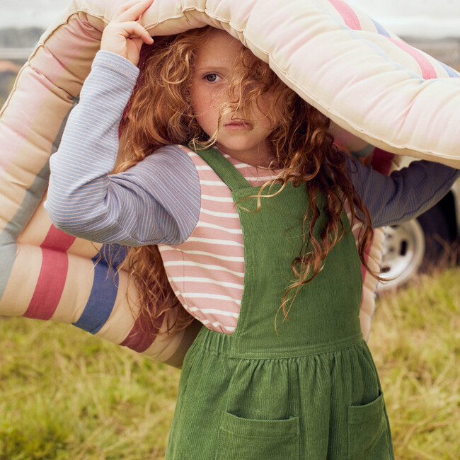 Sloane Mixed Stripe LS Shirt, Dusty Pink Multi