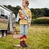 Finley Long Sleeve Polo, Mustard & White - Shirts - 4