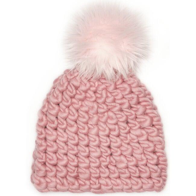 Women's Beanie Pomster, Dusty Rose - Hats - 1