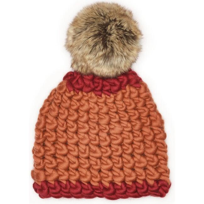 Women's Beanie Dot, Reds - Hats - 1
