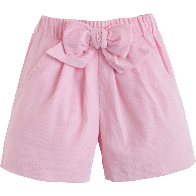 Corduory Bow Shorts, Light Pink