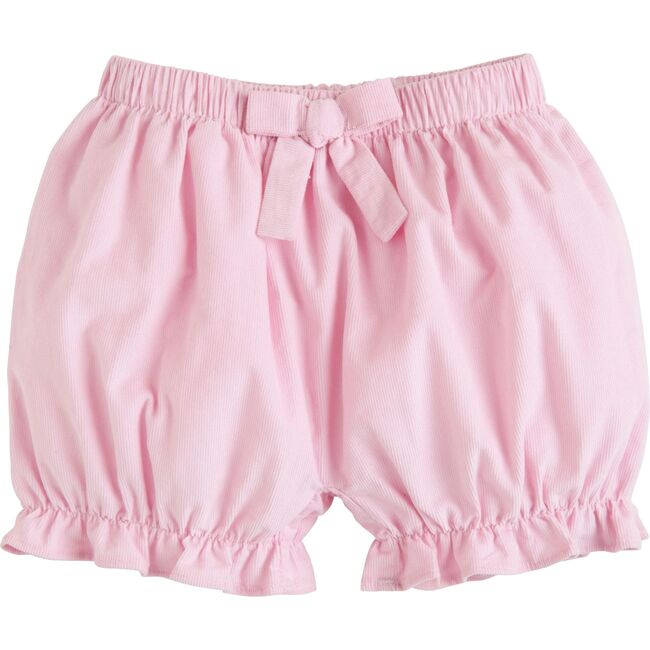 Corduroy Bow Bloomers, Light Pink