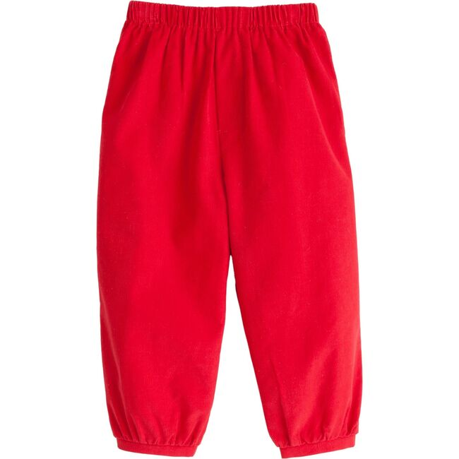 Banded Pull on Corduroy Pant, Red