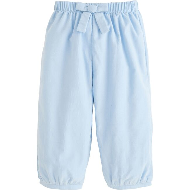 Banded Corduroy Bow Pant, Light Blue