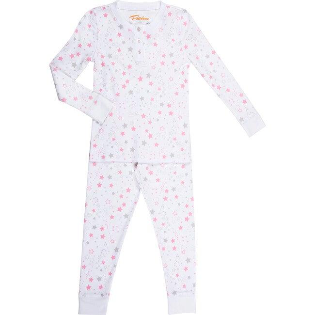 Starry Night Long Pajamas, Pink