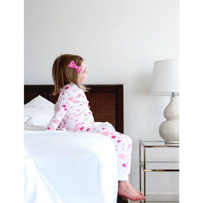 Clouds Long Pajamas, Pink