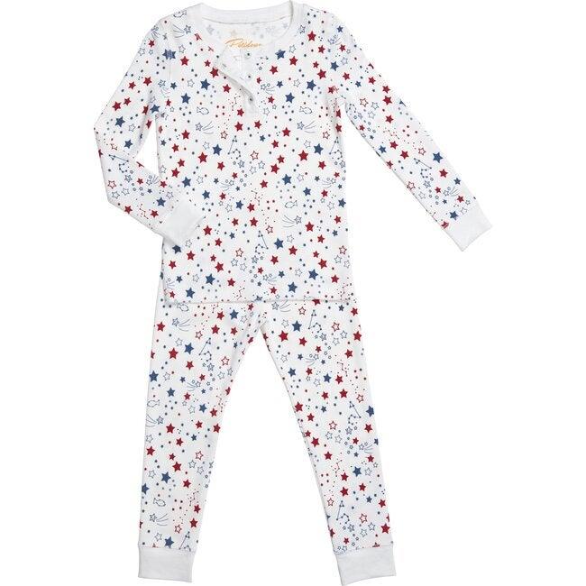 Starry Night Long Pajamas, Blue & Red