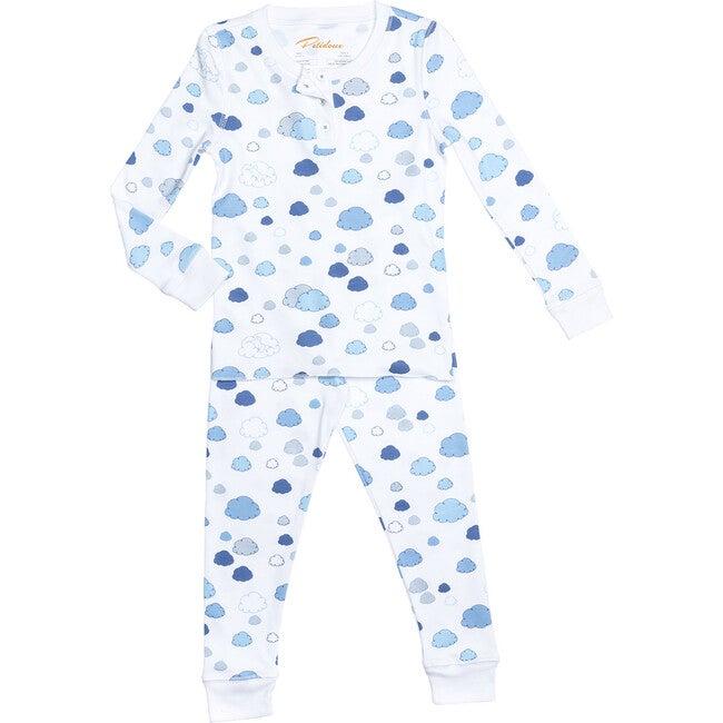 Clouds Long Pajamas, Blue
