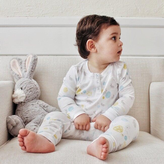 Long Pajamas, Easter Bunnies & Blue Eggs