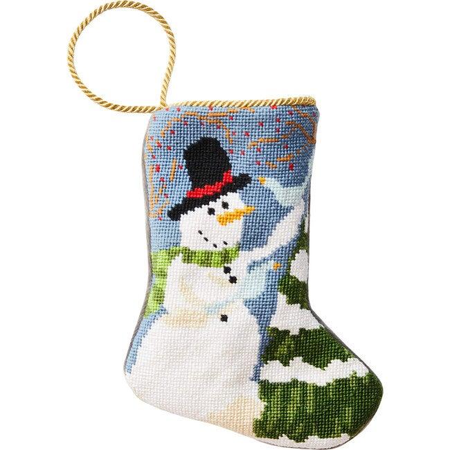 Mini Frosty The Snowman Stocking, White